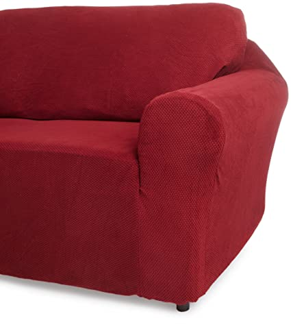 Amazoncom Classic Slipcovers 60 72 Inch Loveseat Cover Burgundy