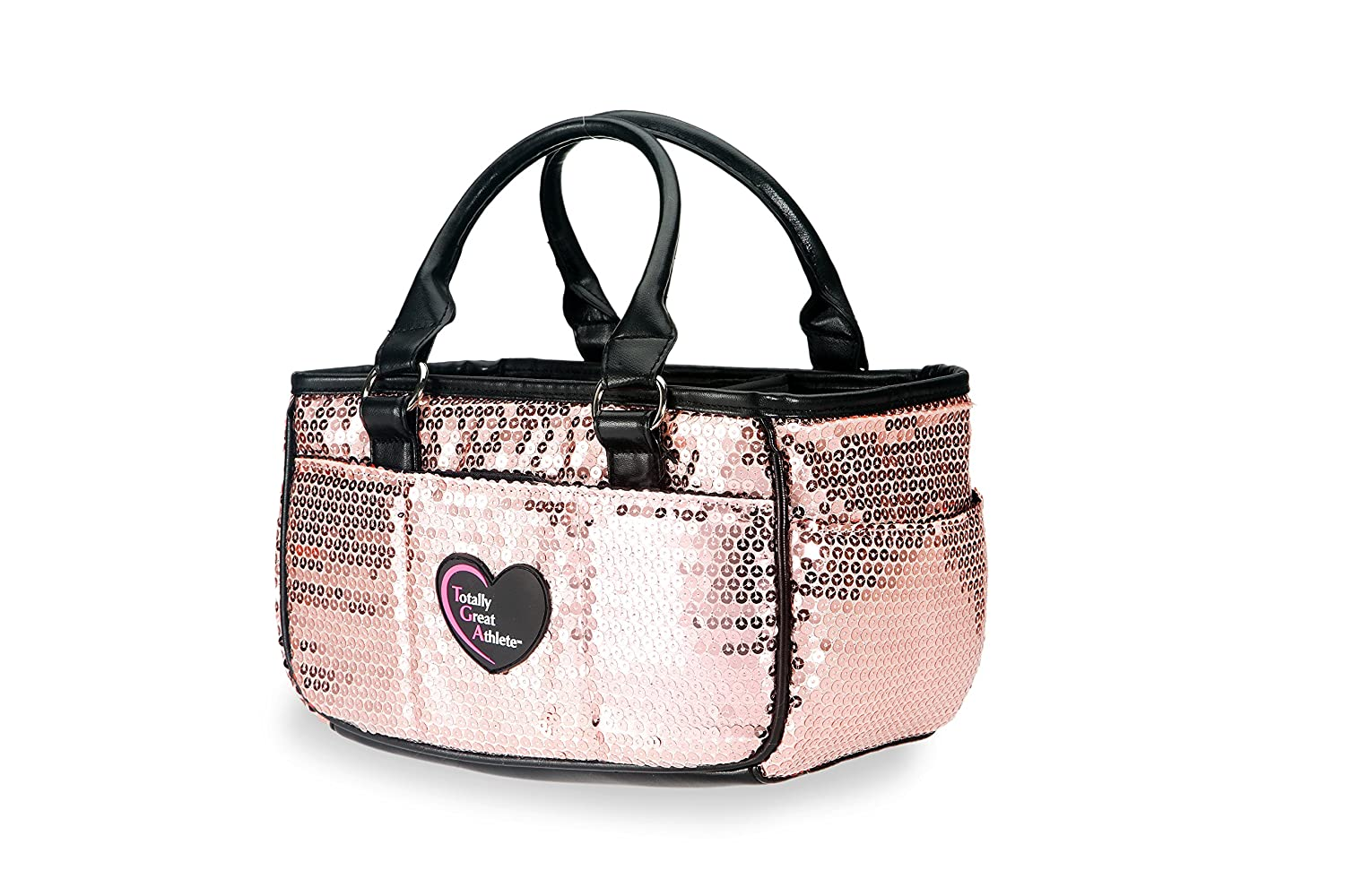 Peach Sequin Ice Skating Bag Tennis Gym and Ballet Girls Athletic Bag best