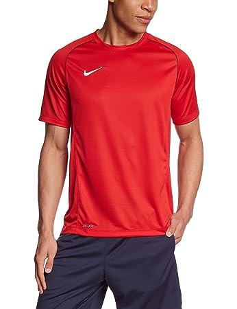Nike Herren Kurzarm Shirt Foundation 12, University Red/Black/White, S,