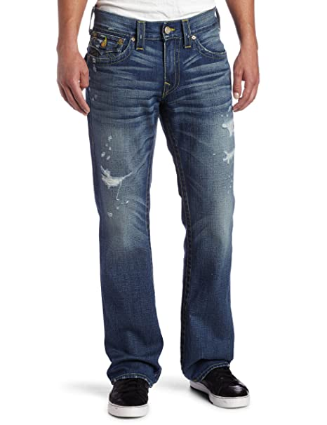 Amazon.com: True Religion Hombre Ricky Straight Jean clásico ...
