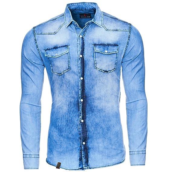 Stiefel : Herren Fairer Preis Hemd mit verwaschener Optik