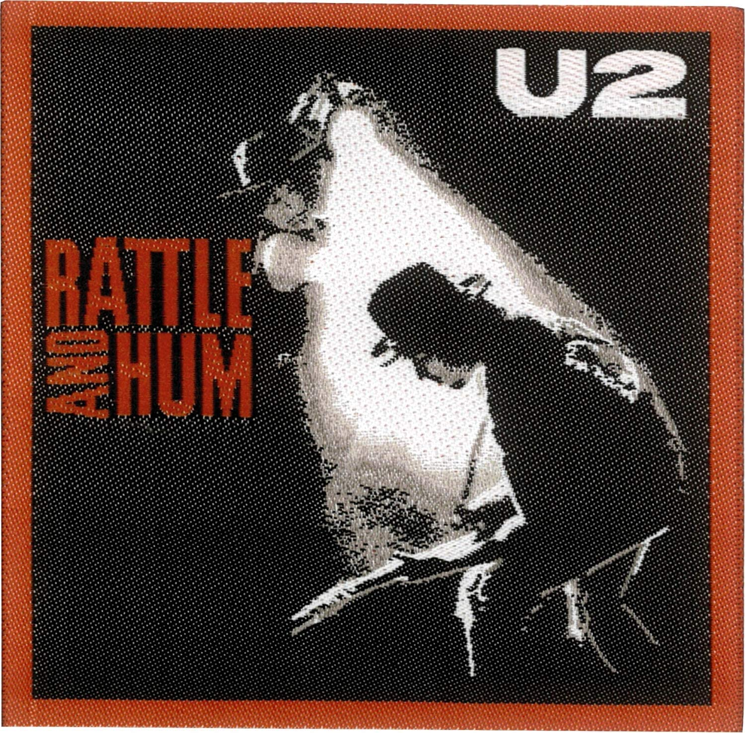 3 x 3 Embroidered PATCH PI/éCE U2 Rattle /& Hum Officially Licensed Original Artwork Premium Quality Iron-On // Sew-On
