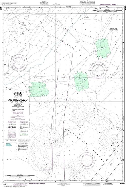 amazon com noaa chart 11359 loop deepwater port louisiana offshore