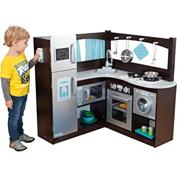Amazon Com Kidkraft Large Play Kitchen With Lights