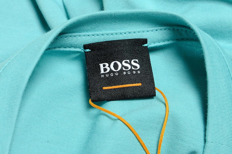 Hugo Boss Tauno 7 Mens Turquoise Graphic Crewneck T-Shirt US M IT 50