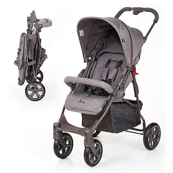 ABC Design Silla de paseo / Cochecito bebé Treviso 4 - Respaldo regulable en altura, a partir de los 6 meses, capota extraíble con protección UV - Gris: ...