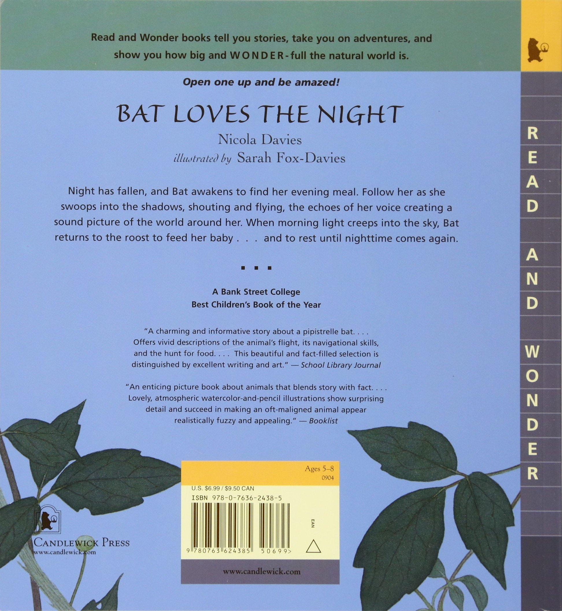 bat loves the night read and wonder nicola davies sarah fox