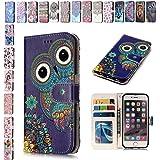 E-Mandala Funda iPhone 7/8/7 Plus/8 Plus Carcasa con Tapa Libro Flip Leather Case Wallet Cover