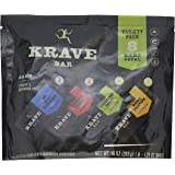 KRAVE Meat Bars Variety Pack, (Wild Blueberry, Chipotle Cherry, Cranberry Thyme, Mango Jalapeno), Gluten Free, 1.25 Ounce, 8 Count