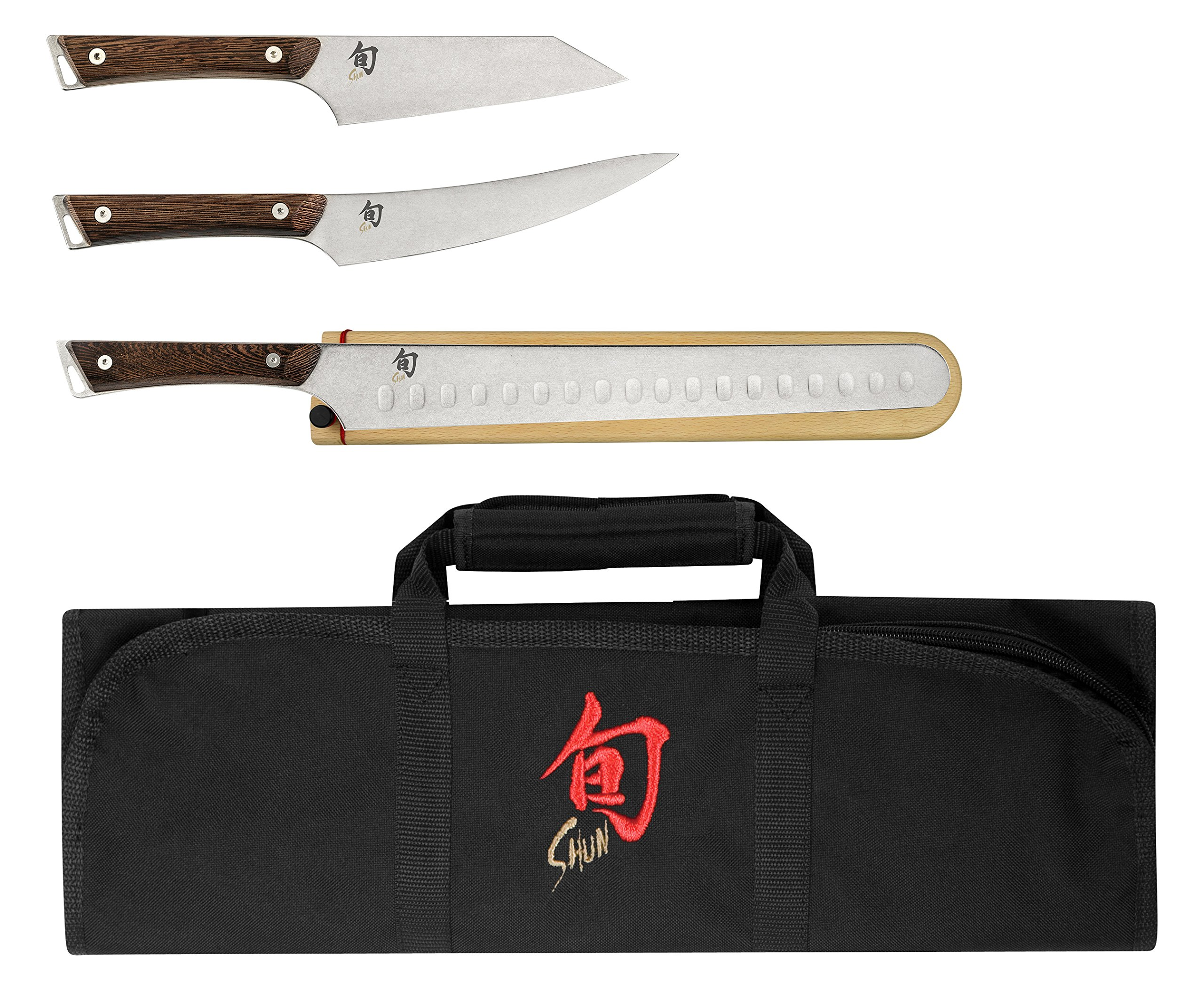 Shun SWTS0450 Japanese Cutlery Kanso 4-Piece BBQ Knives Set, One size, Silver