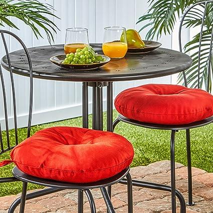 Merveilleux Greendale Home Fashions 15 Inch Round Indoor/Outdoor Bistro Chair Cushion,  Salsa,