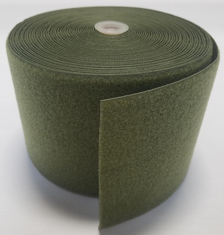 6「od (オリーブ)グリーン縫製-フックとループファスナー – ループ側のみ – 1ヤード   B07583SYHK