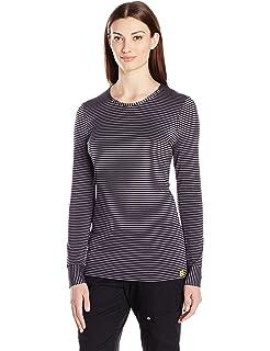 eeffec903e3 Amazon.com: WonderWink Women's Scrubs Silky Long-Sleeve T-Shirt ...