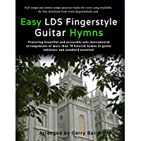 Easy LDS Fingerstyle Guitar Hymns book cover