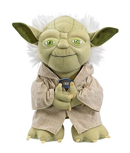 Amazon Com Star Wars Plush Stuffed Talking 9 Yoda Character
