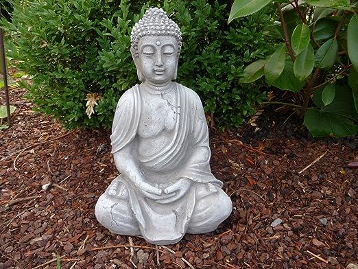 Figura de Buda escultura figura de piedra para jardín de decoración Koi estanques jardín figuras: Amazon.es: Jardín