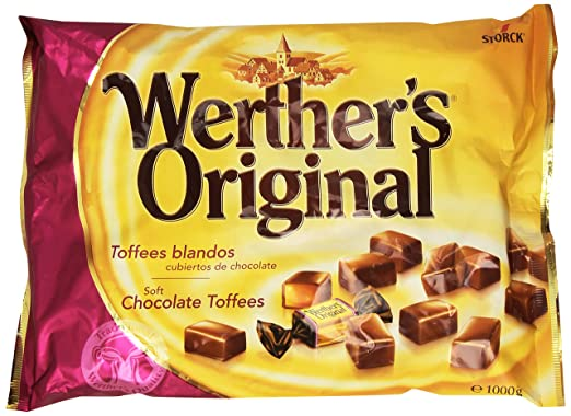 WertherS Original - Toffee blandos cubiertos en chocolate - Caramelos - 1000 g