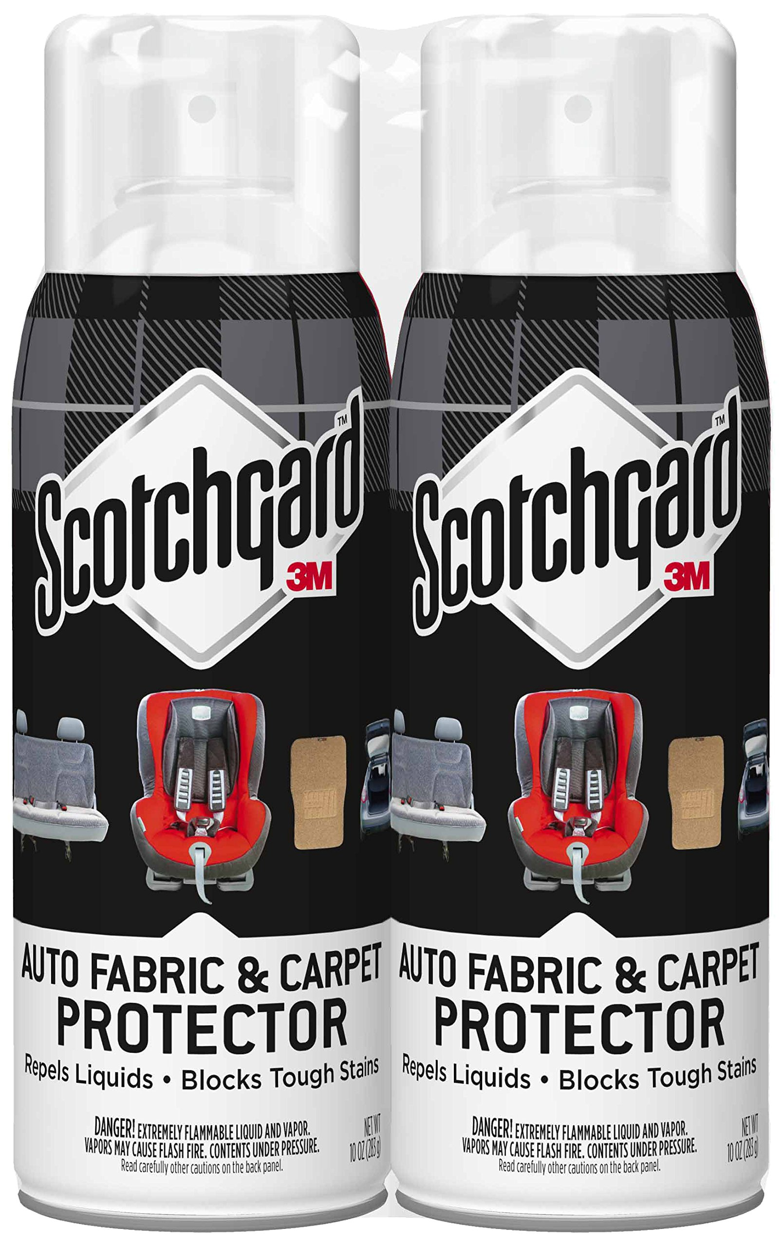 Scotchgard Auto Fabric & Carpet Protector, 2 Cans, 10-Ounces (20 Ounces Total) by Scotchgard