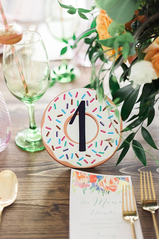 Astounding Amazon Com Donut Table Numbers For Bridal Shower Birthday Interior Design Ideas Clesiryabchikinfo