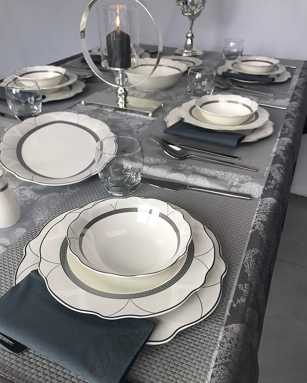 Zellerfeld Service de Table en Porcelaine ESS 28 pi/èces pour 6 Personnes GC 11318