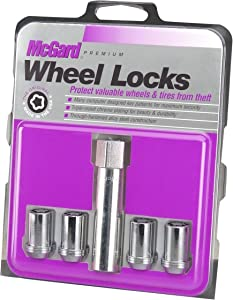 McGard 25257 Chrome Tuner Style Cone Seat Wheel Locks (M12 x 1.5 Thread Size) - Set of 4