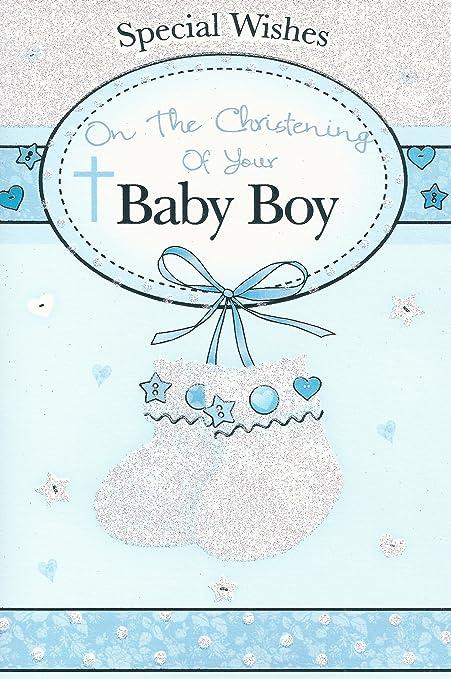 Deseos especiales en el bautizo de tu bebé tarjeta: Amazon ...