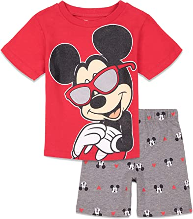 NEW Disney Mickey Mouse Tee Shirt and shorts Set 18M,4T,6