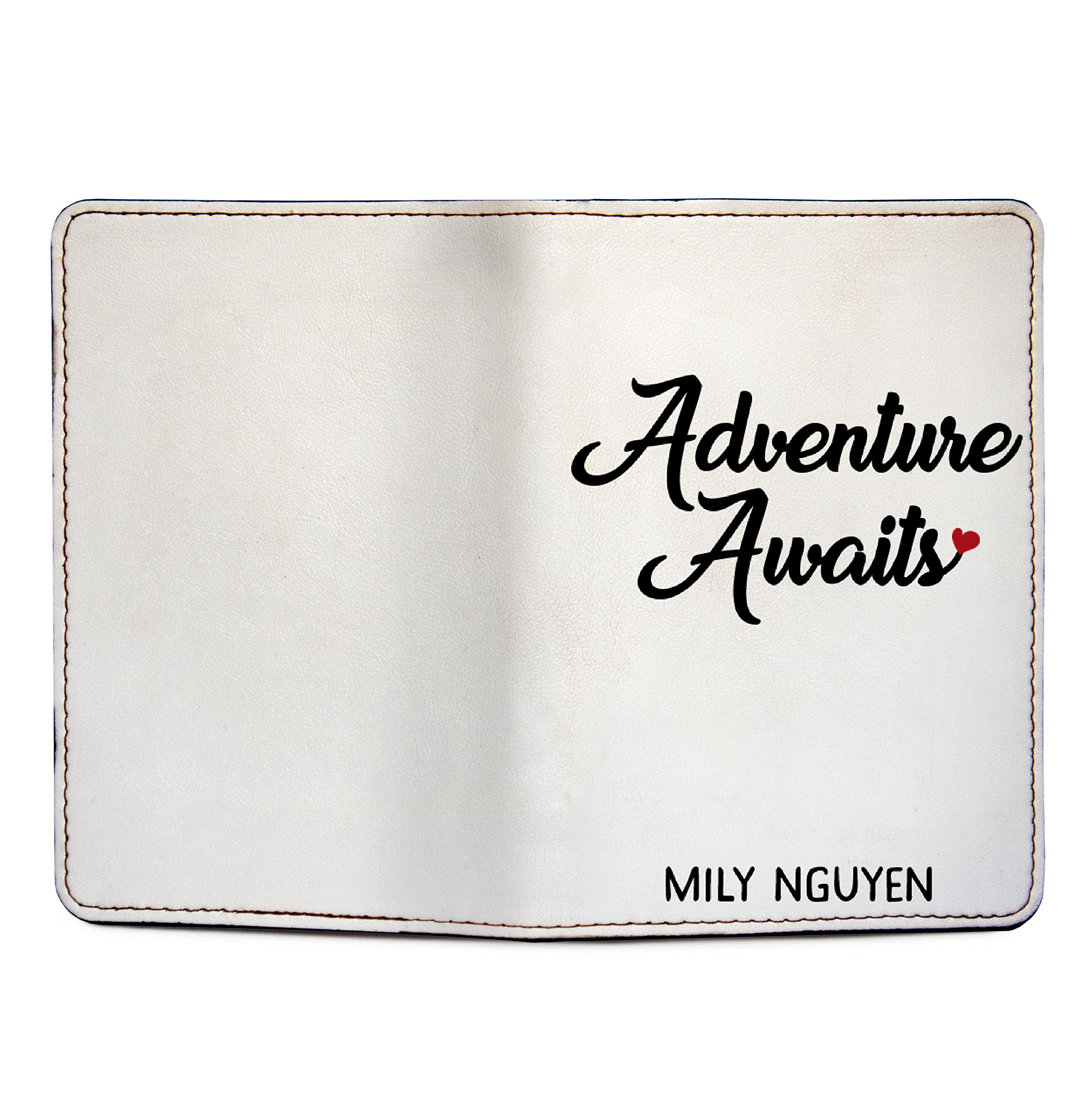 Adventure Awaits - Couple Passport Holder Personalized Passport Cover Set of 2 by With Love From Julie (Image #5)