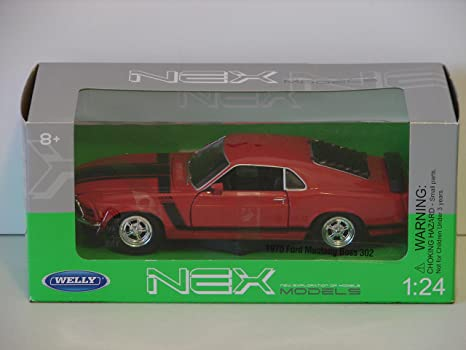 Ford Mustang Boss 429 1970 negro coche modelo 1:24 Welly