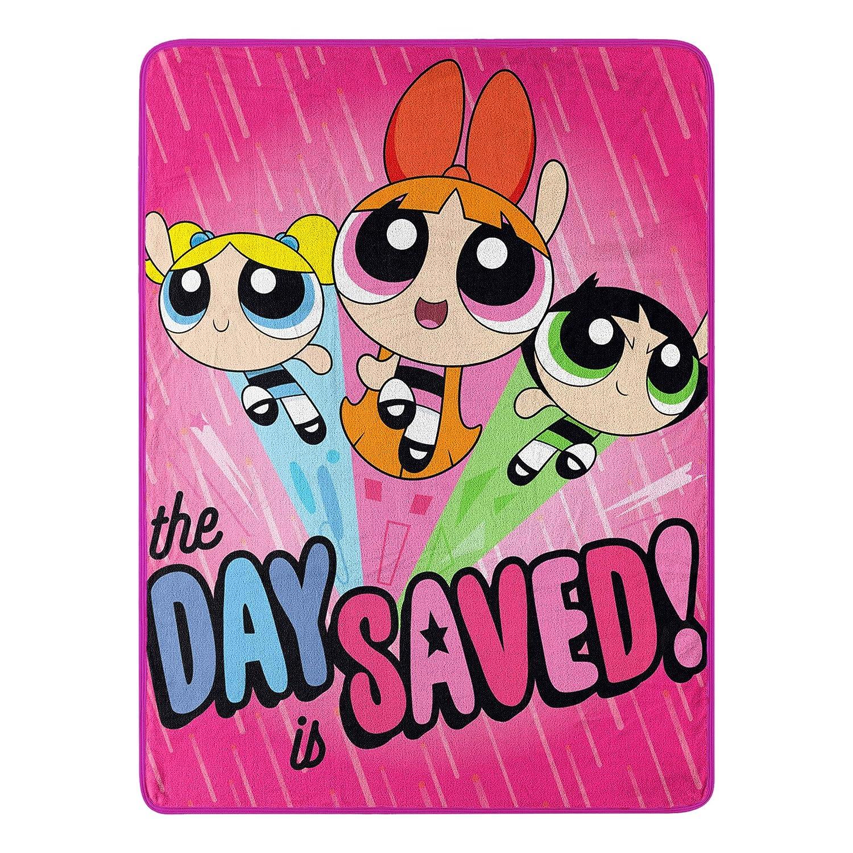"Cartoon Network Powerpuff Girls, ""Day Saved"" Micro Raschel Throw Blanket, 46"" x 60"""