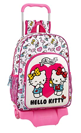 Hello Kitty Mochila Y Carro Color Rosa 42 cm 611816160: Amazon.es: Ropa y accesorios