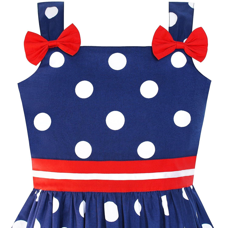 571423f1 Amazon.com: Sunny Fashion Girls Dress Ladybug Polka Dot Bow Tie: Clothing