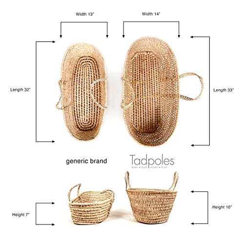 Tadpoles Cable Knit Moses Basket and Bedding Set Pink