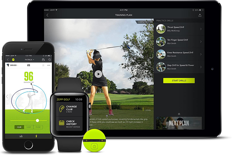 Zepp Kit pour iPhone/iPad/Android avec capteur agganciabile, Liaison en sans Fil, analyseur de données