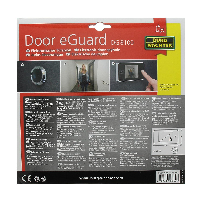 93a7ddcb4c0048 Burg-Wächter eGuard DG 8100 Electronic Door Spyhole
