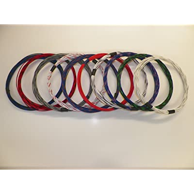 18 GXL HIGH TEMP AUTOMOTIVE WIRE 10 STRIPED COLORS 10 FEET EACH 100 FEET TOTAL: Automotive