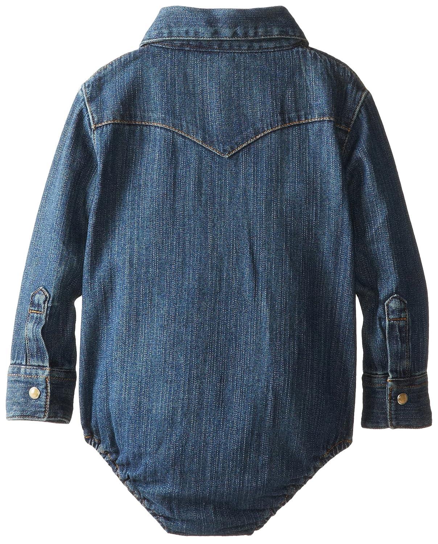 36eeb16dec1b Wrangler Baby Boys  Long Sleeve Denim Bodysuit  Amazon.in  Clothing ...