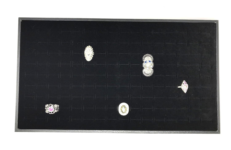 Bejeweled Display/® 144 Ring Slot Foam w// Plywood Box in Black Color AX-AY-ABHI-66051