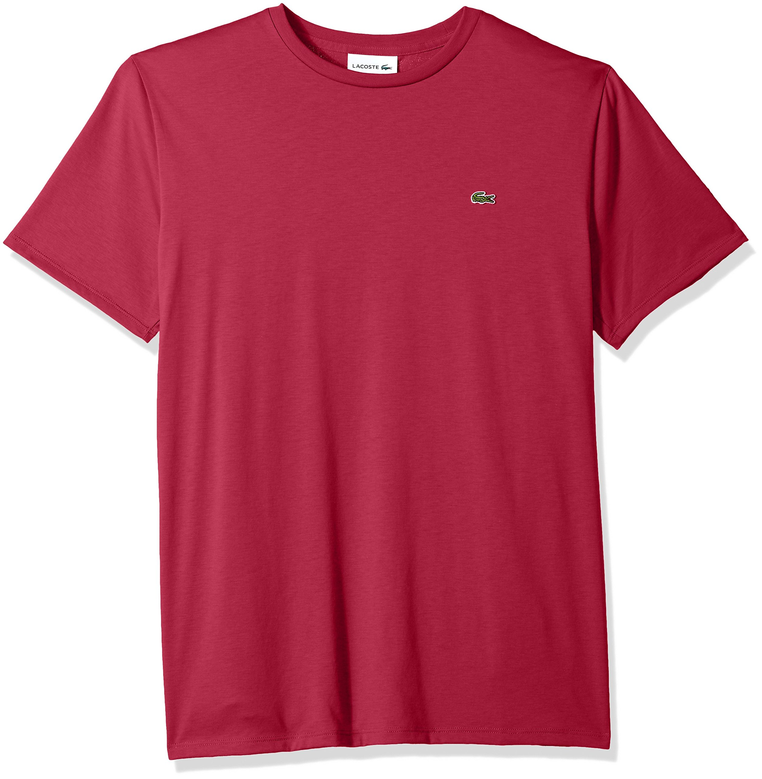 Lacoste Men's Short Sleeve Crew Neck Pima Cotton Jersey T-Shirt, Persian red, XX-Large