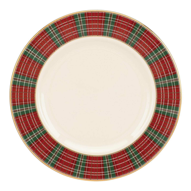 Amazon lenox winter greetings plaid salad plate kitchen dining kristyandbryce Choice Image