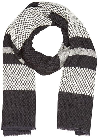 Womens Engineered Stripe Wrap Shawl, Black (Noir Regular Black), One Size (Manufacturer Size: UN) Levi's