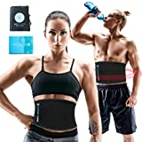 Sports Laboratory Waist Trimmer Belt PRO+ Men & Women for Weight Loss & Body Slimming One Size Adjustable with FREE Bag & Guide