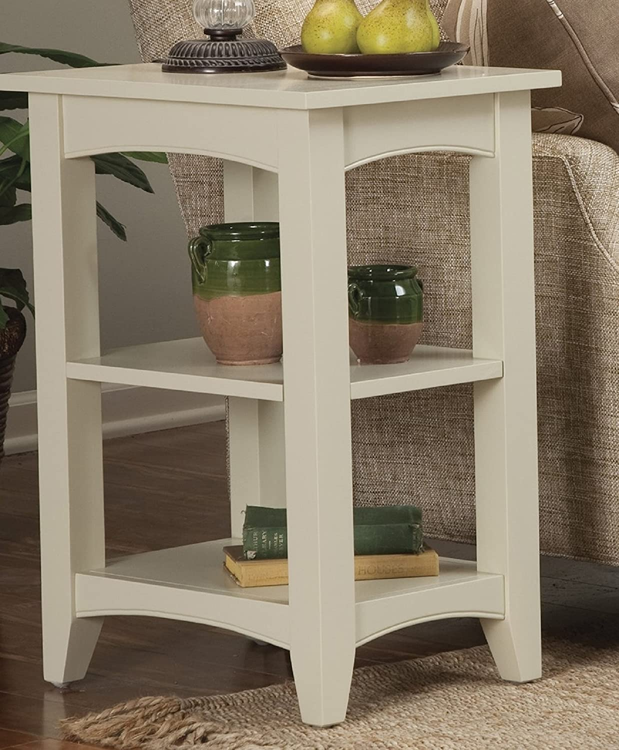 Chocolate Alaterre ASCA02CL Shaker Cottage 2 Shelf End Table