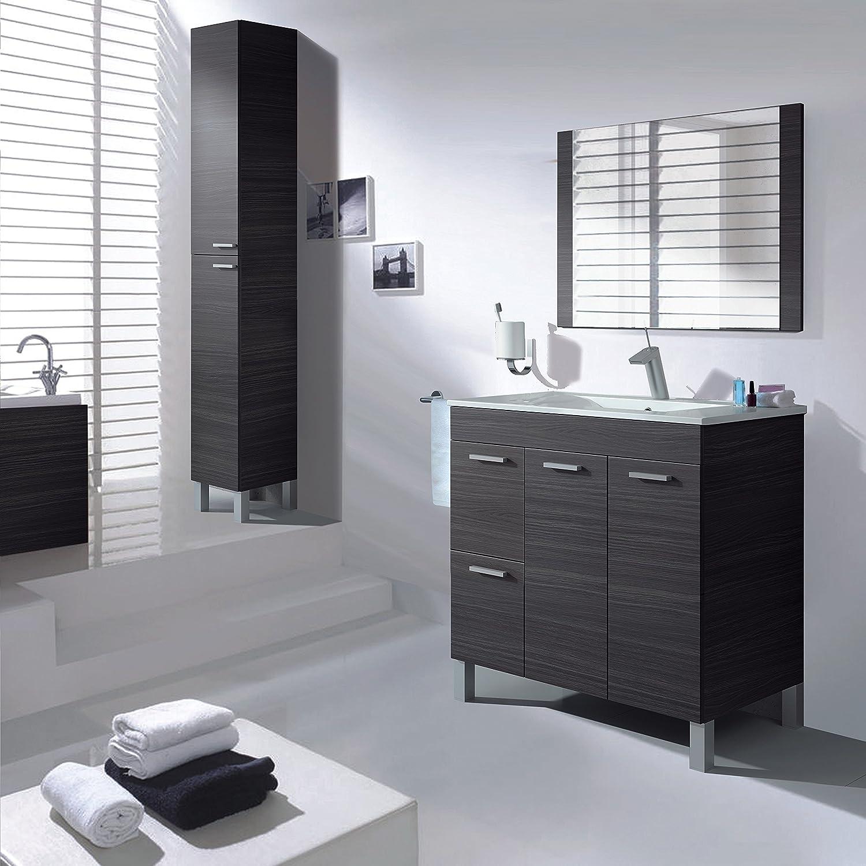 aktiva mobile da bagno 2 ante 2 cassetti con specchio e lavandino colore