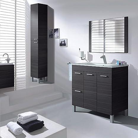 Aktiva, mobile da bagno, 2 ante, 2 cassetti con specchio e lavandino ...