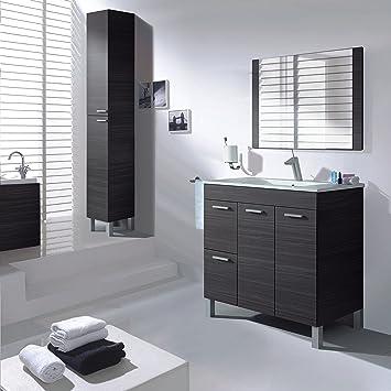 aktiva mobile da bagno, 2 ante, 2 cassetti con specchio e ... - Lucido Cabinet Grigio Lavandino