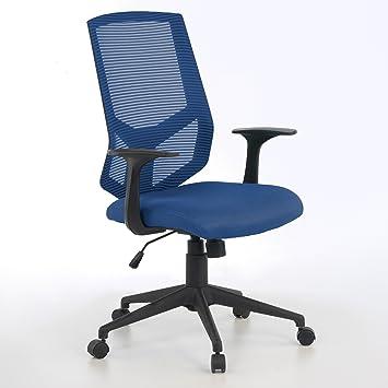 ofiprix (Air Silla giratoria de Oficina de Malla Altura Ajustable, Color Azul: Amazon.es: Hogar
