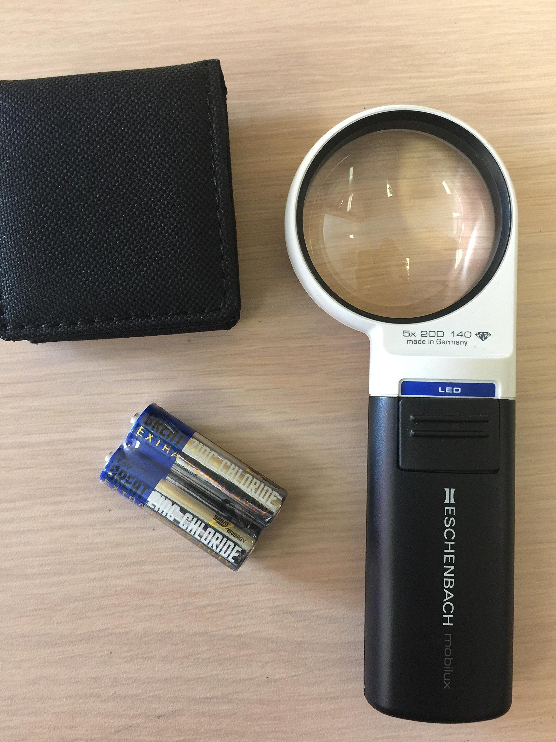 5X  LED illuminated hand held magnifier
