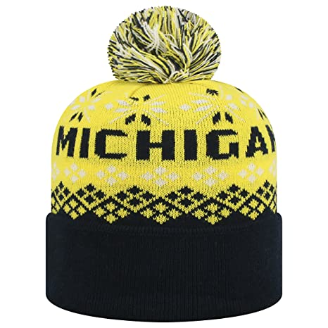 ffbc0f32653 Image Unavailable. Image not available for. Color  Top of the World  Michigan Wolverines Official NCAA Cuffed Knit Advisory Stocking Stretch  Sock Hat Cap