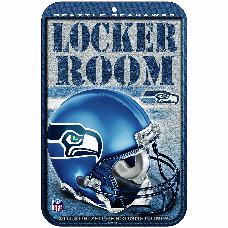 NFLシアトルシーホークス11-by-17-inchロッカールームサイン B001MYKKBC